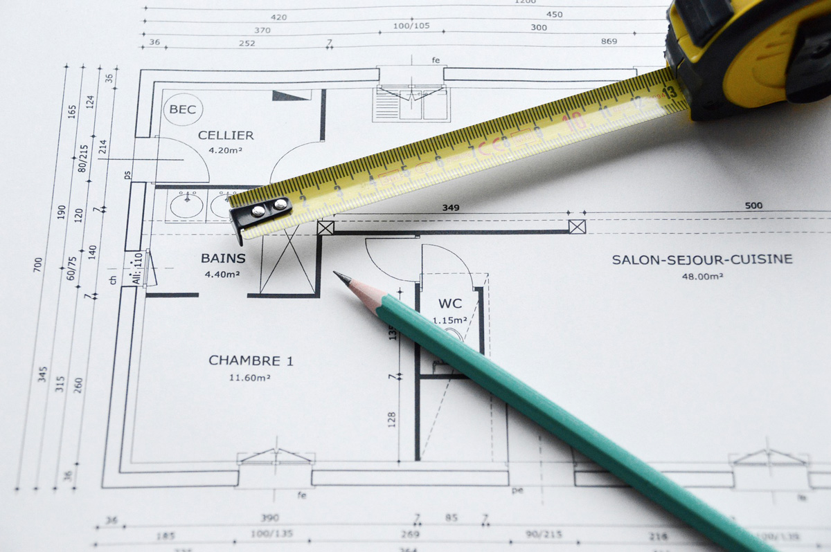 Plans construction batiment
